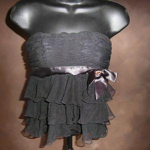 Tops - Black Strapless blouse